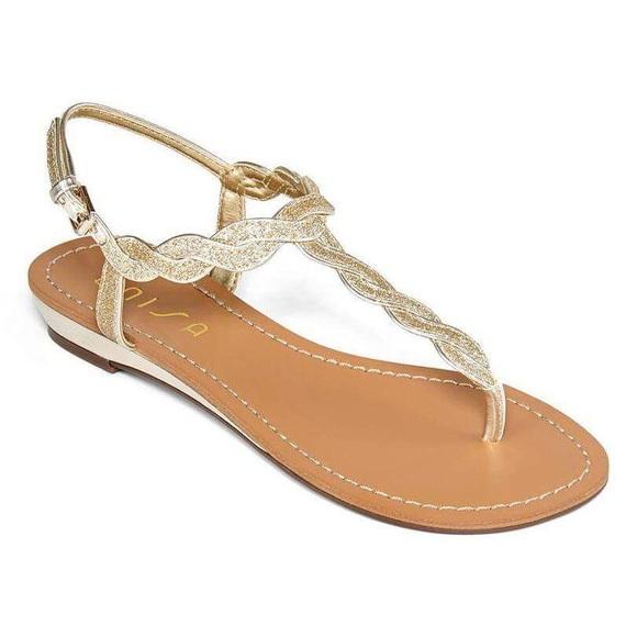 """df2e65a09ca9 Unisa """"Unlenni"""" Gold Glitter Sandals. M_5a6e0a32d39ca27c4bf48333"""